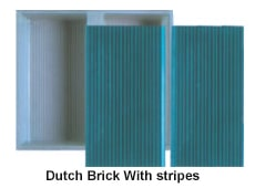 Dutch brick with stripes