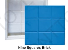 Nine Squares Brick