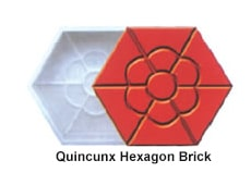 quincunx hexagon brick